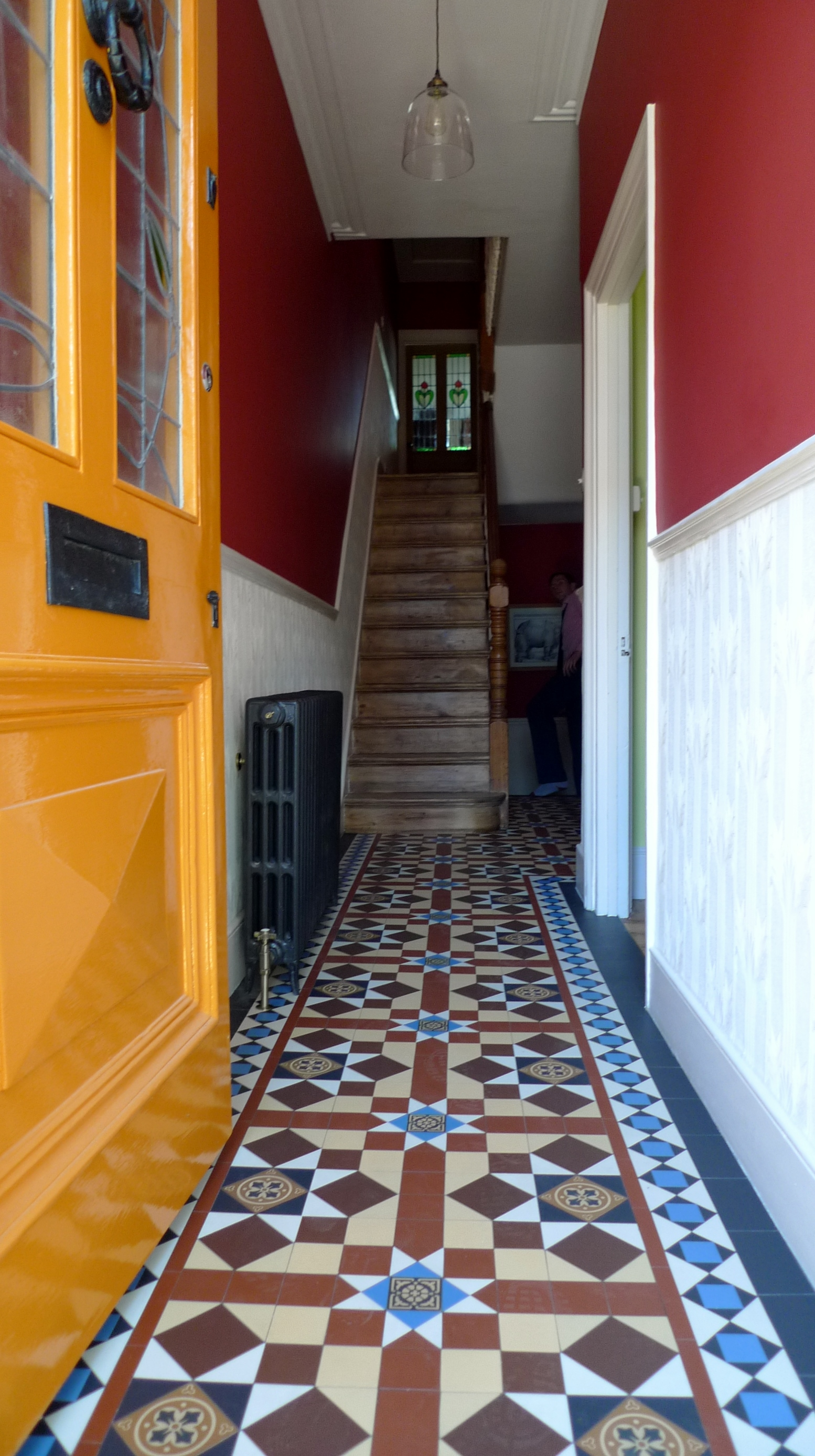 mosaic tile hallway reproduction london