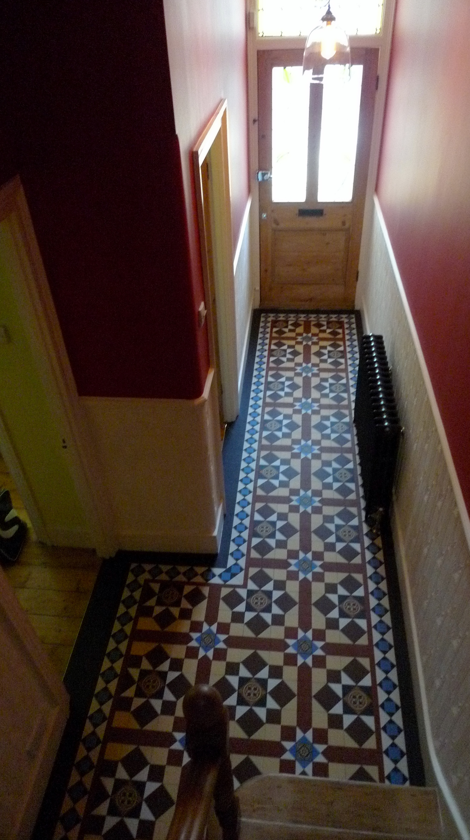multi colour victroian hallway tile path peckham brockley dulwich clapham battersea london