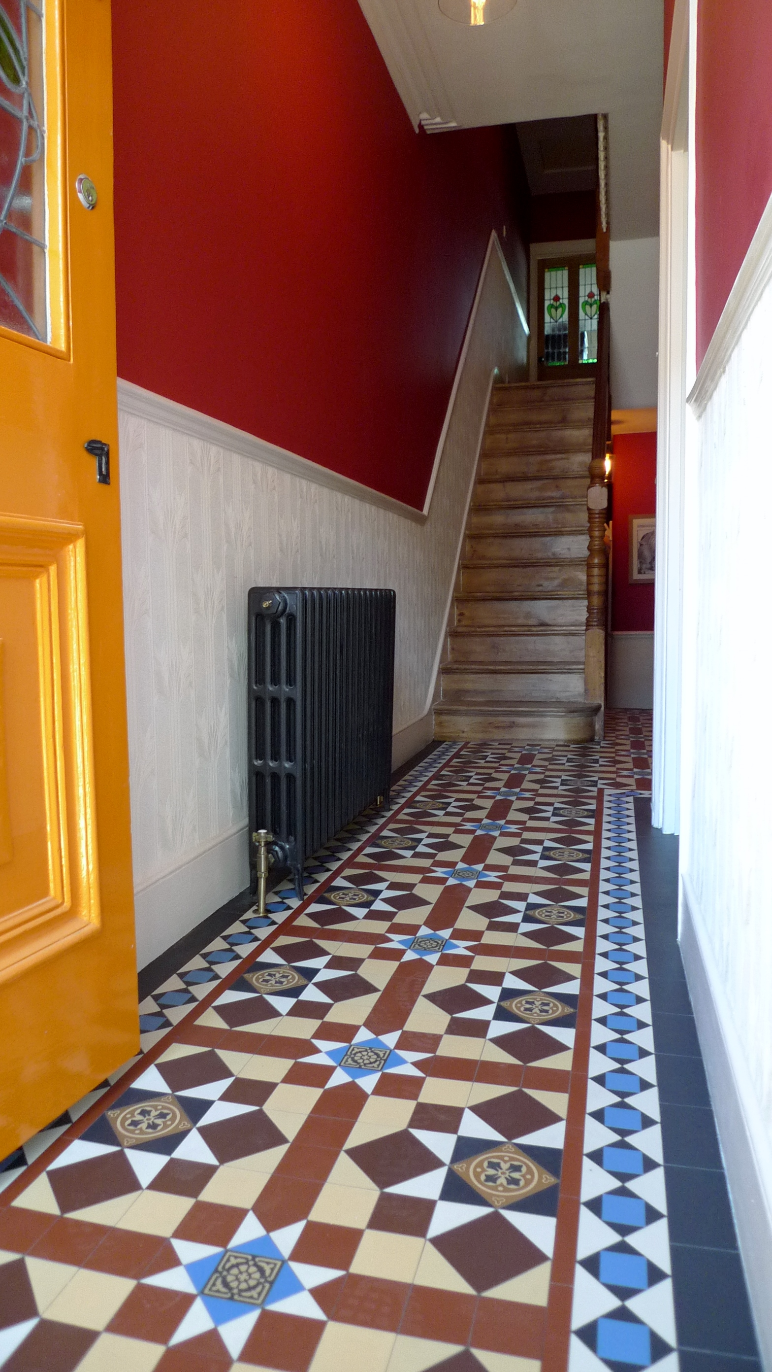 victorian mosaic tile hallway hall way brockley peckham dulwich clapham battersea london
