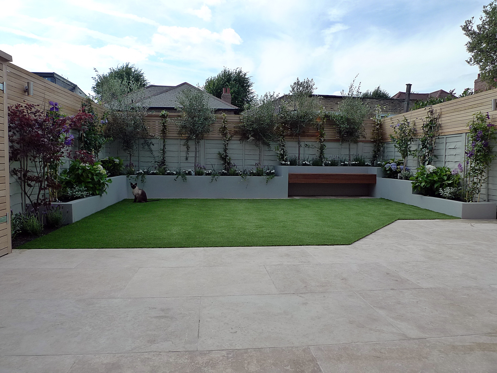 contemporary modern garden design ideas london anewgarden design and build clapham chelsea balham battersea fulham