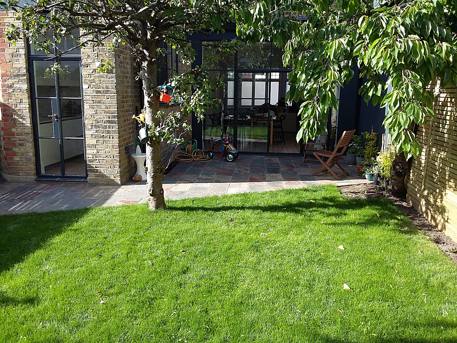 lawn landscaping patio paving rusty slate streatham balham clapham dulwich london