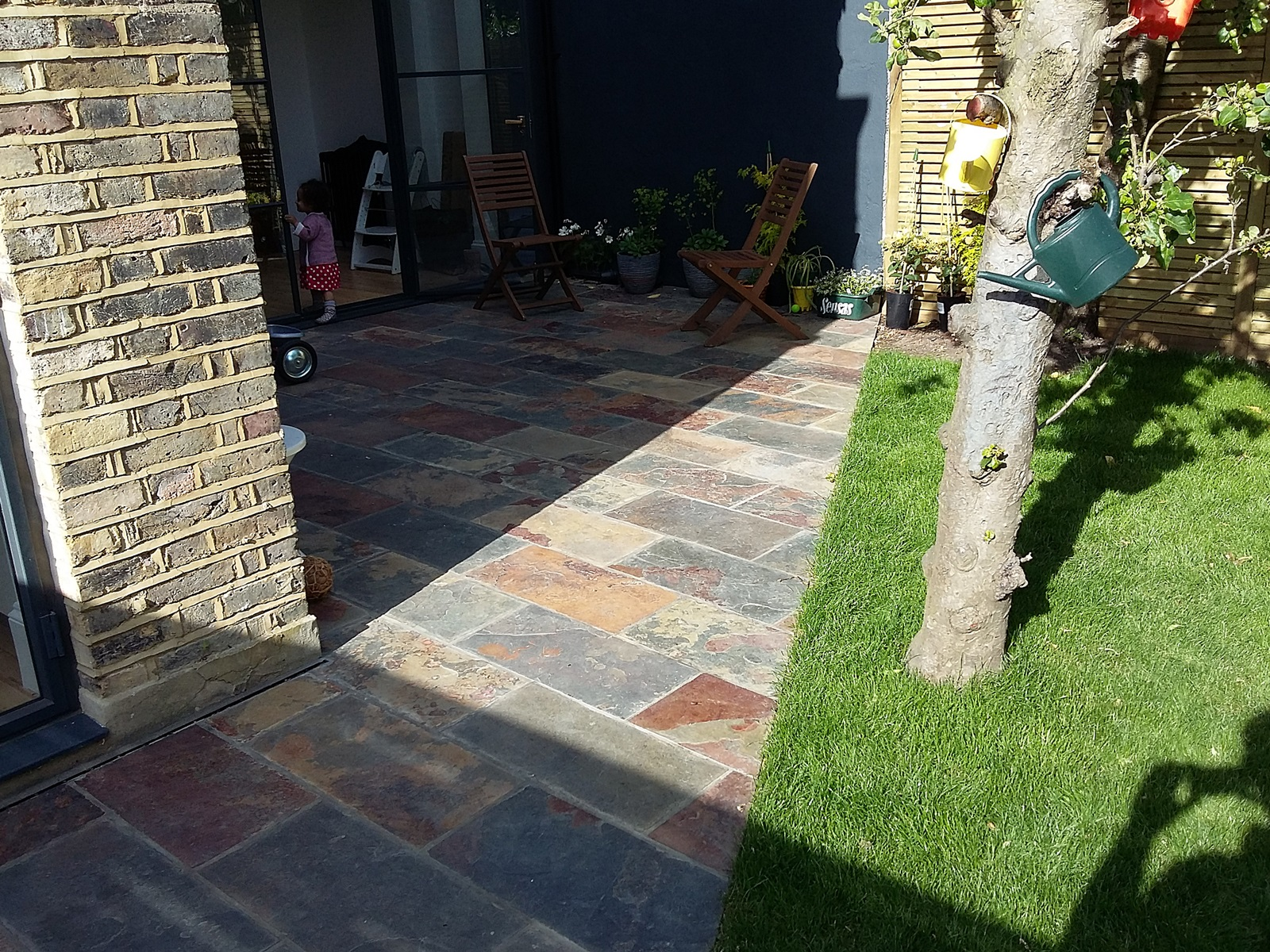 rusty brown ionised slate paving patio streatham balham clapham dulwich london