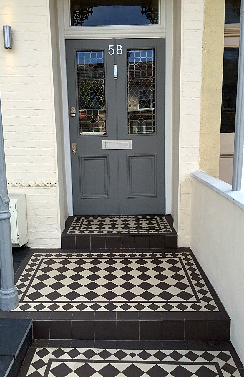 victorian mosaic porch tiles and path london