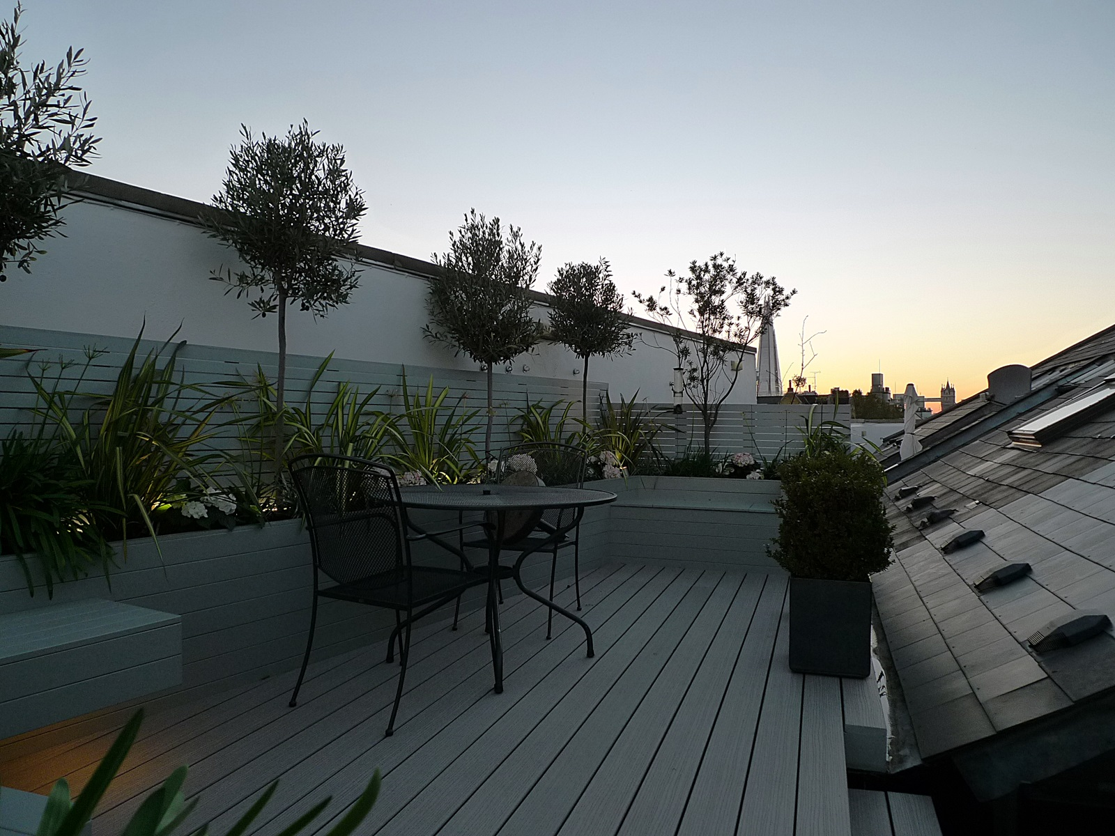 deck roof garden design modern low maintenance design ideas london