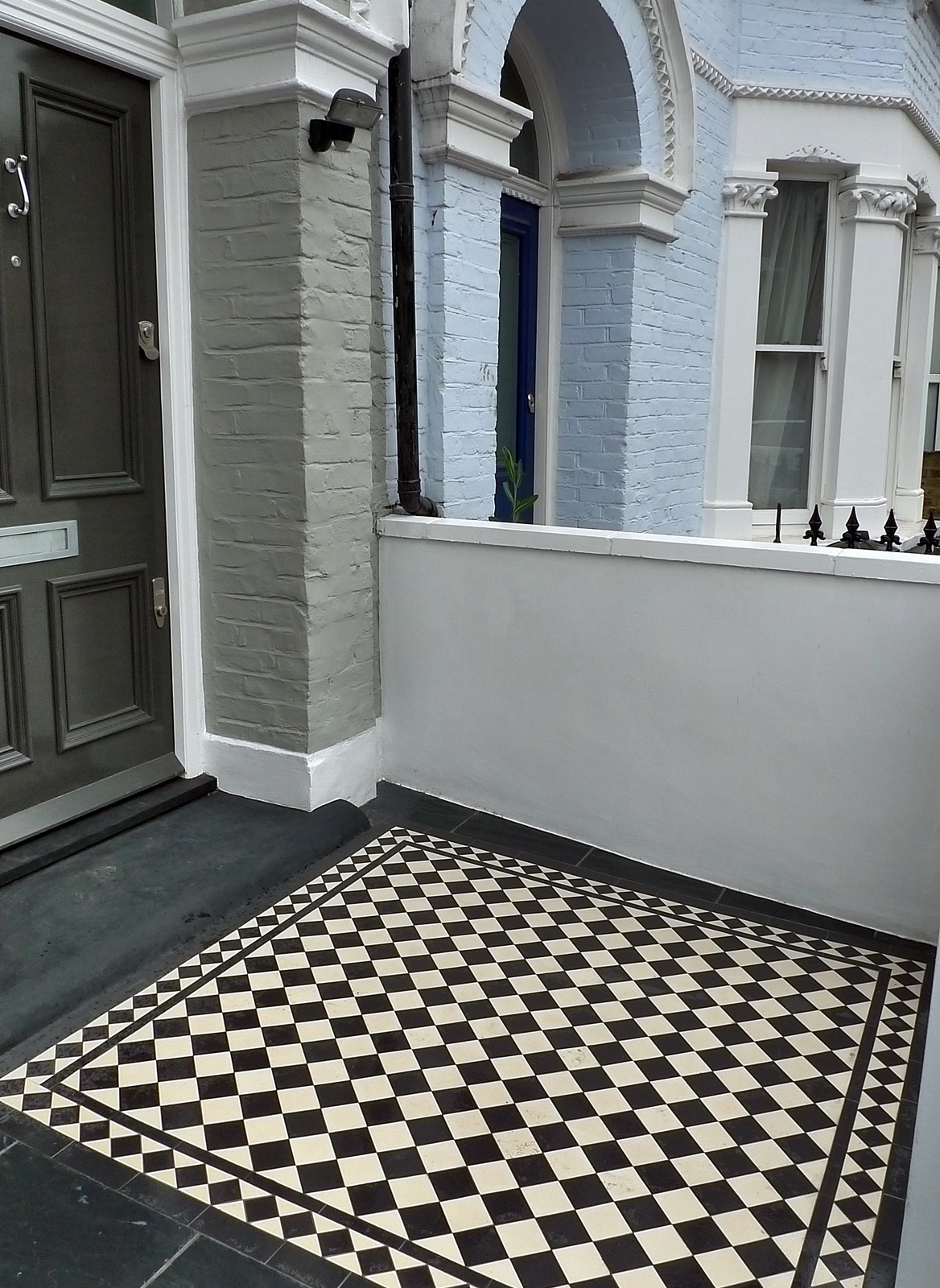 Black and white Victorian mosaic London