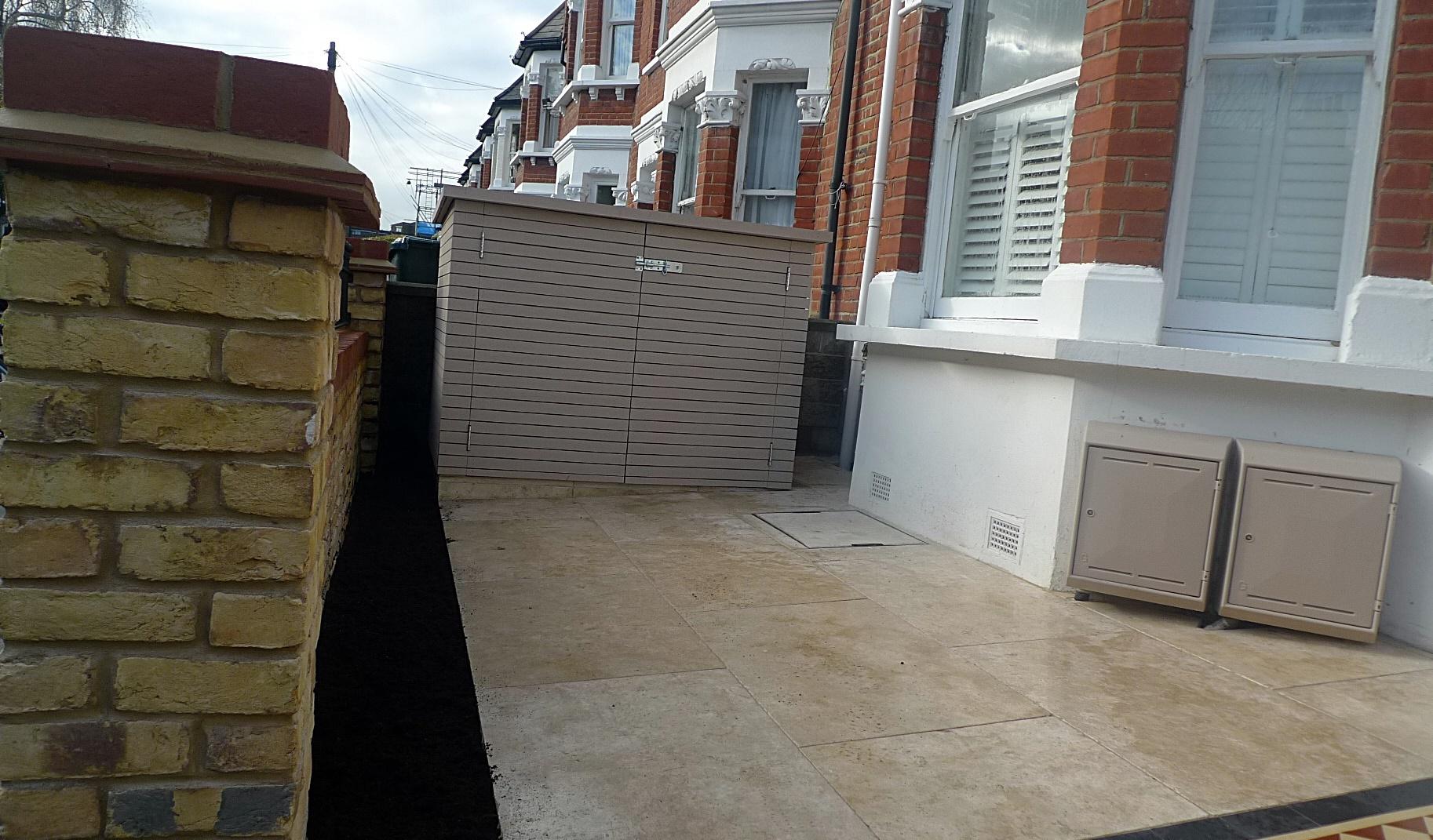 Storage bin Victorian mosaic London Wandsworth Putney