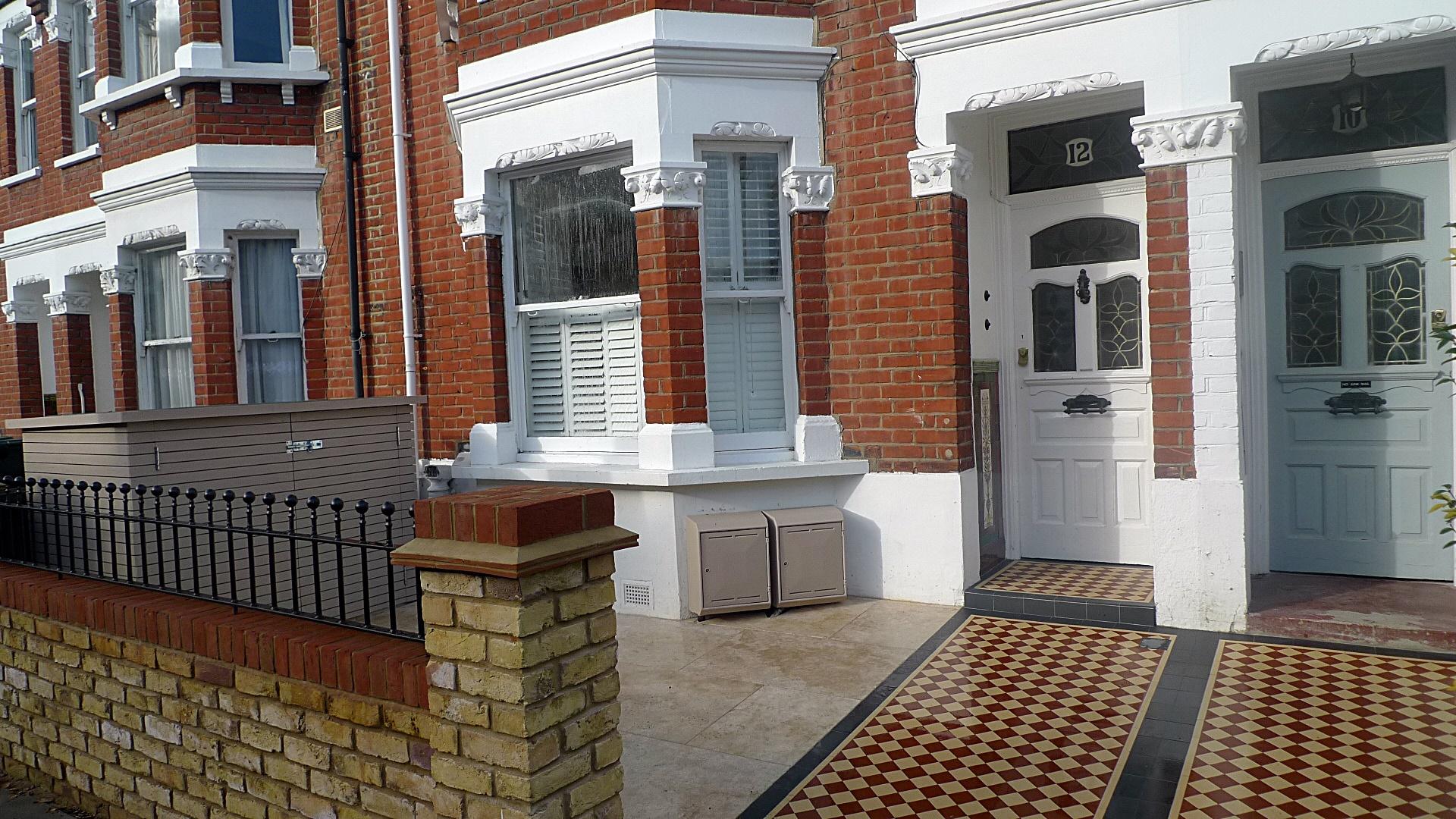 Wall brick yellow garden brick London travertine Putney Chelsea Fulahm