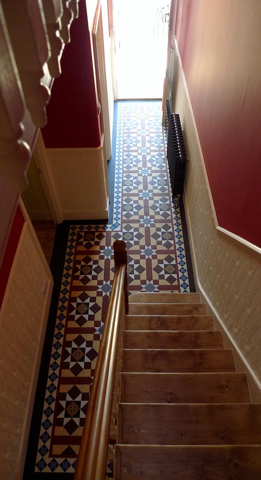 classic matt porcelain mosaic tile path internal hallway balham clapham putney battersea wandsworth london