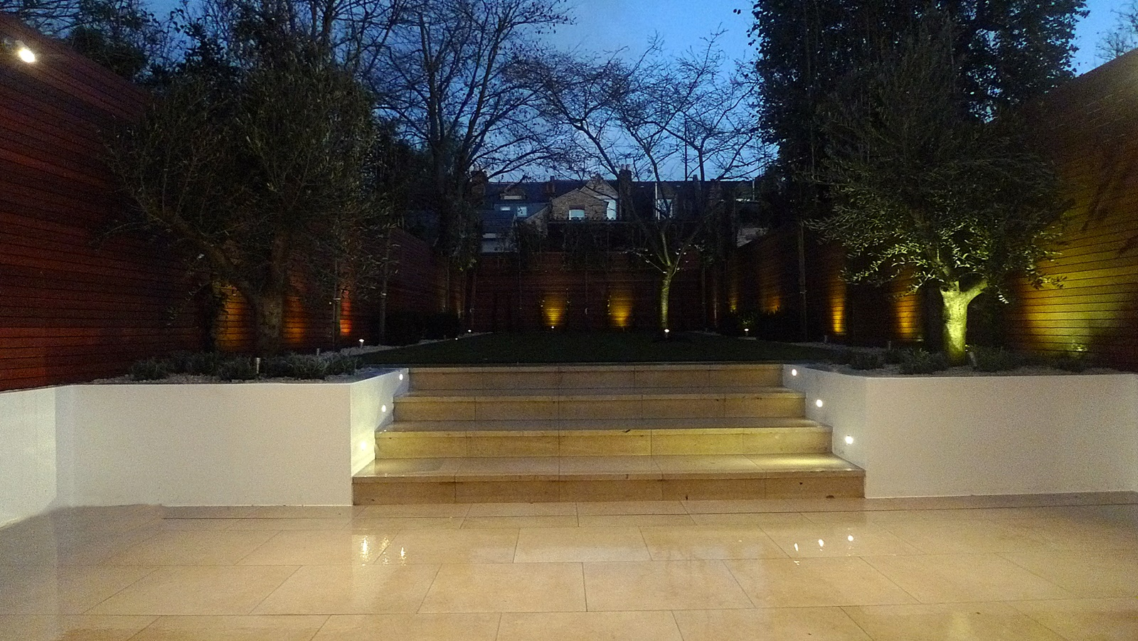 cream tiles raised beds modern low maintenace garden design earlsfield clapham battersea fulham chelsea balham london