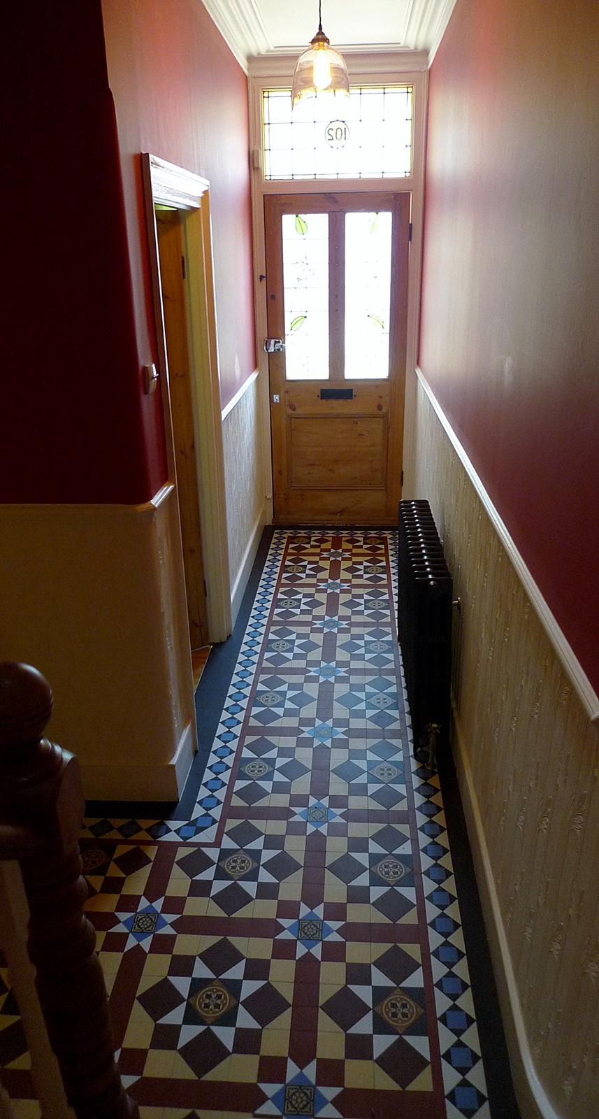 Victorian Hallway Mosaic Tile Path Internal Entrance And