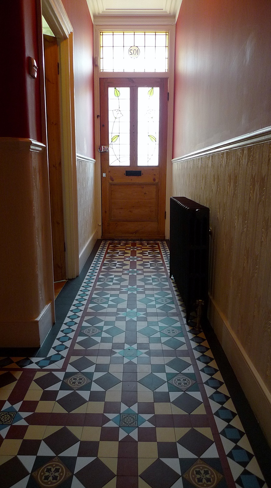 Foyer Hallway Schedule : Victorian hallway mosaic tile path internal entrance and