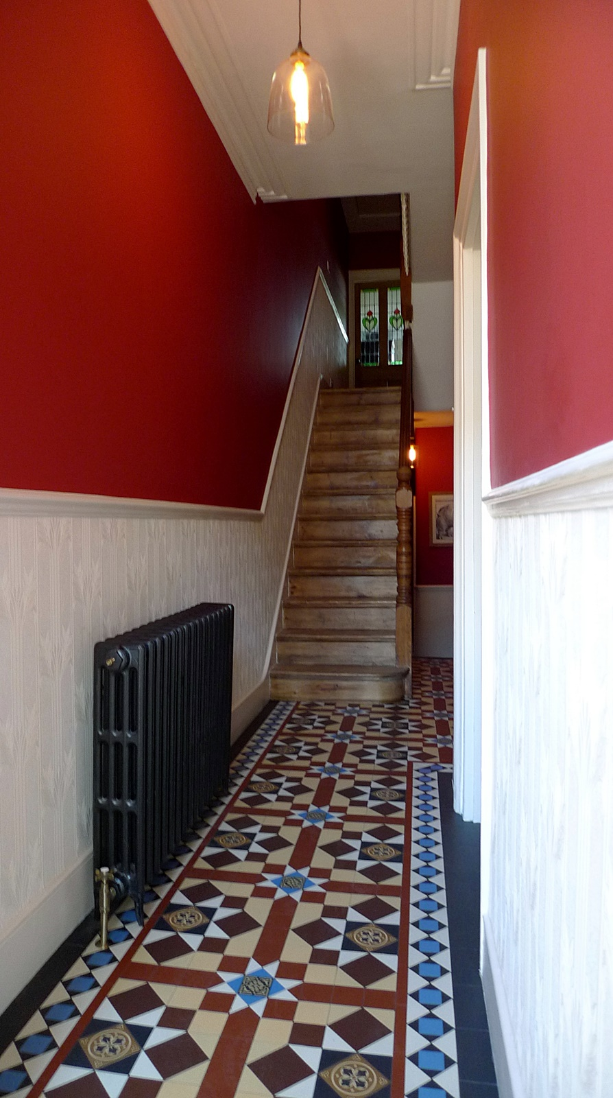 victorian hallway mosaic tile path internal entrance and porch brockley new cross lewisham south east london
