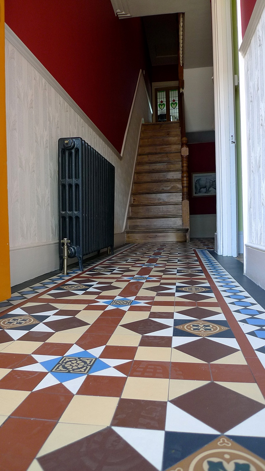 victorian mosaic til path hallway entrance peckham brockley dulwich forest hill london