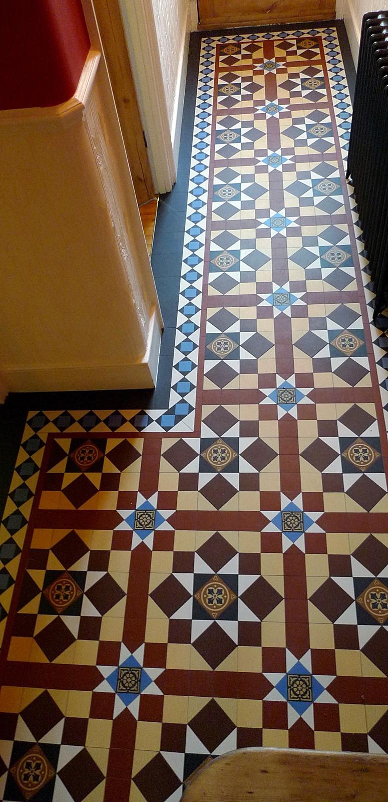 victorian mosaic tile hallway interanl house mosaic tile path