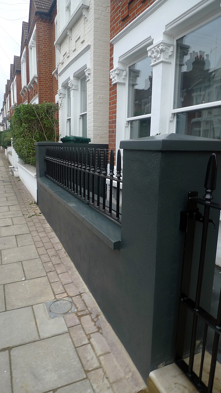 Balham Front Garden London Company black garden wall London