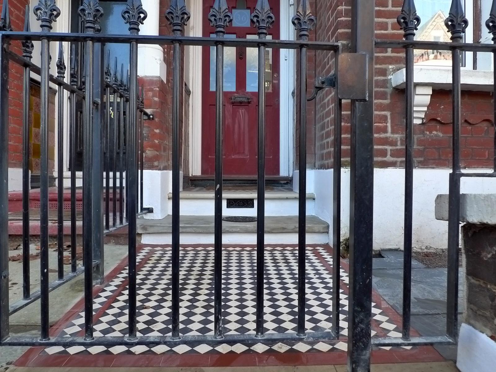Streatham Brixton Front garden Victorian mosaic London Balham Battersea Wandsworth Clapham