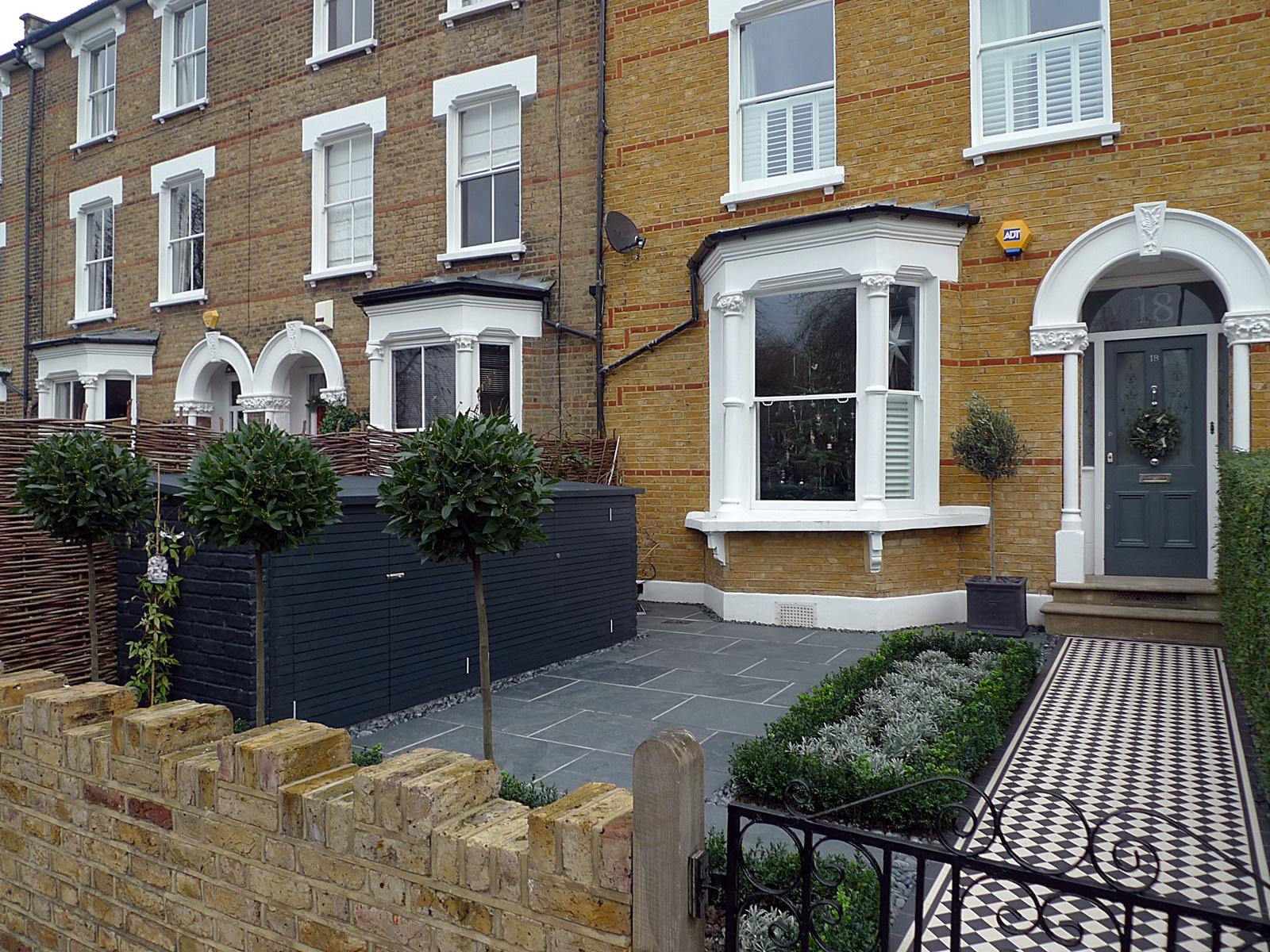 classic london traditioanl front garden design anewgarden