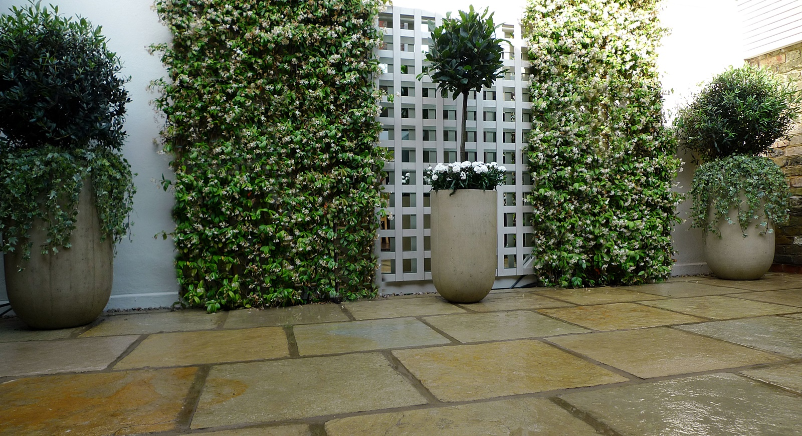 Courtyard minimalist contemporary garden design and designer belgravia soho london