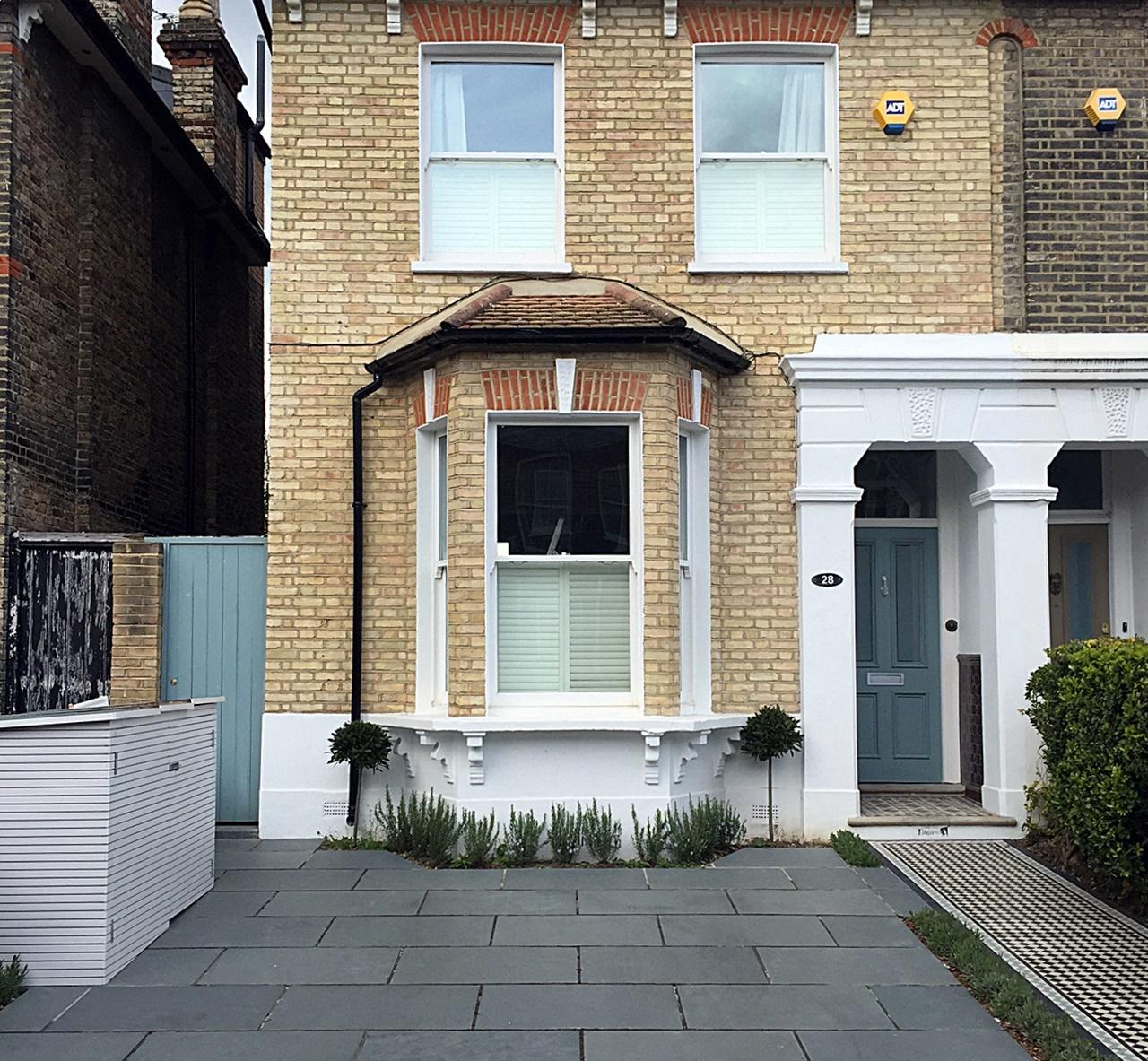 Bespoke Bin Store Driveway Grey Colour Path Tile Planting Front - Front garden driveway ideas uk