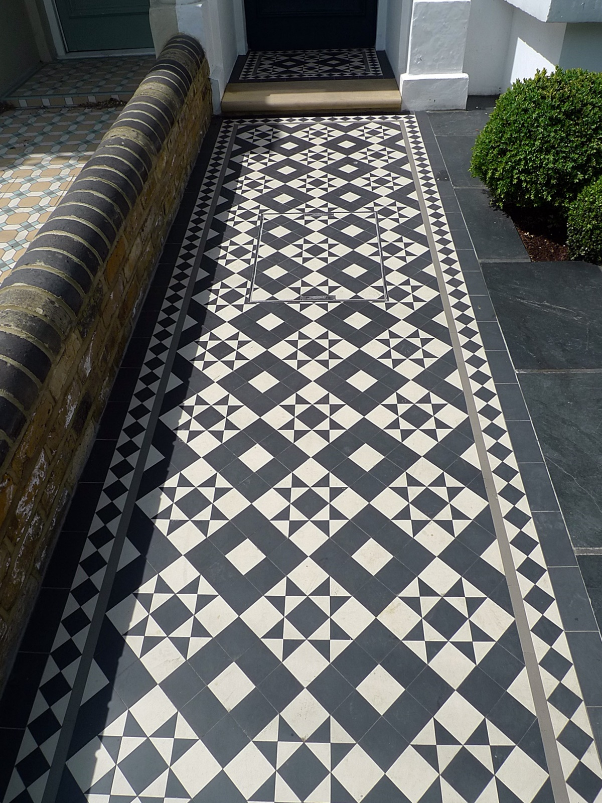 Victorian black and white mosaic London