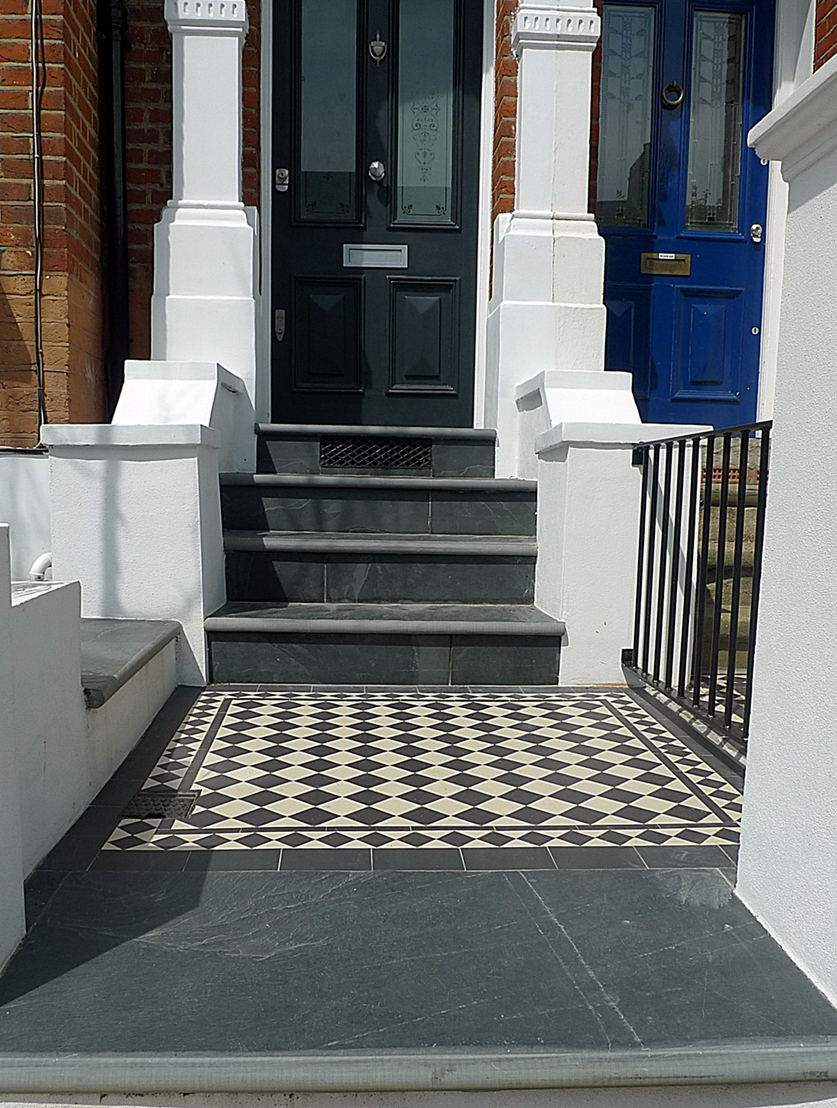 Victorian mosaic slate paving front garden Kingston Richmond Cheam Purley Croydon