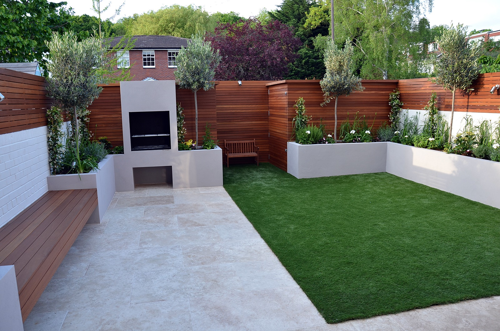 Modern garden design fulham chelsea clapham battersea for Modern garden decking designs