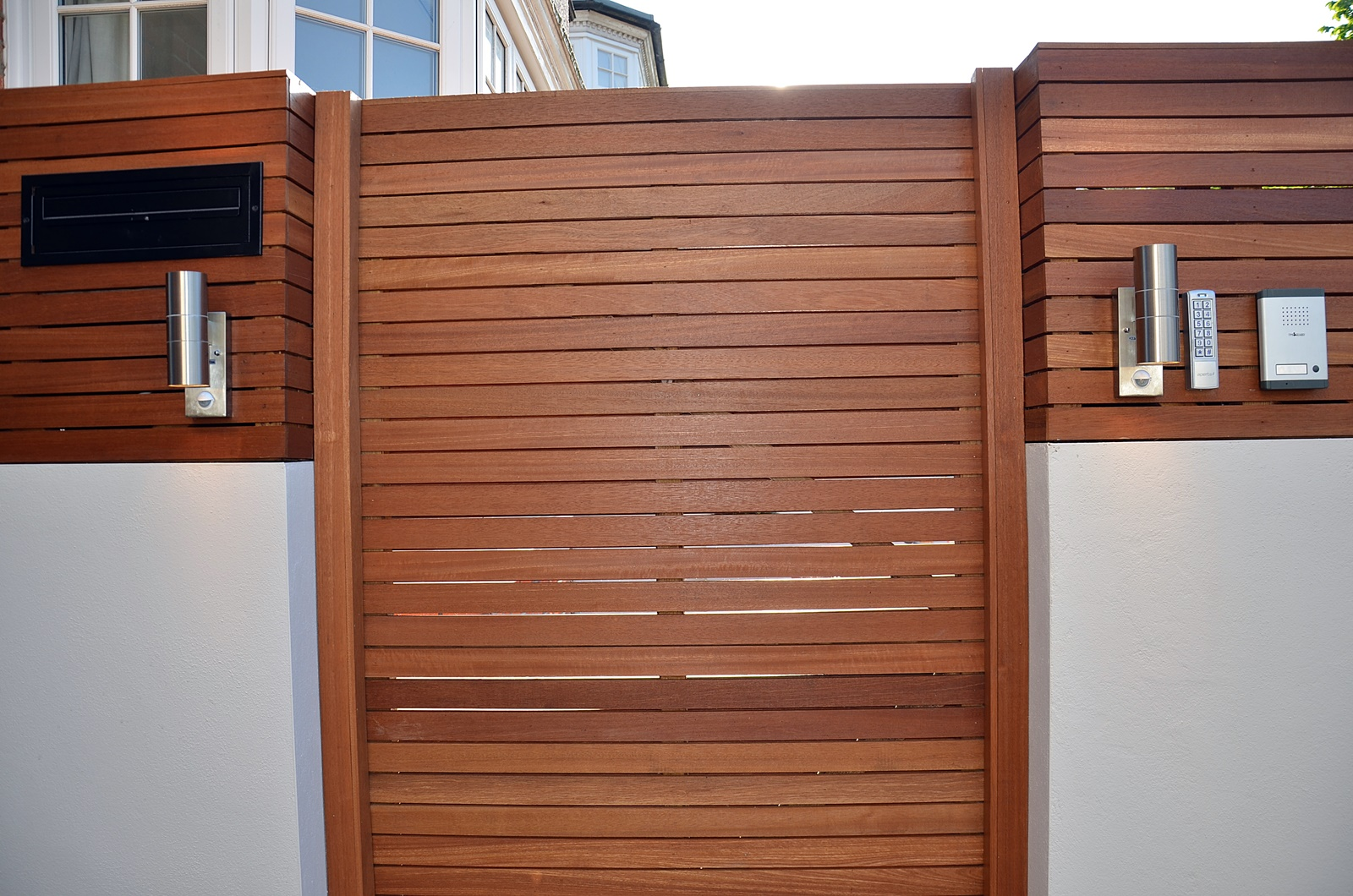 entry phone lights and hardwood screen london