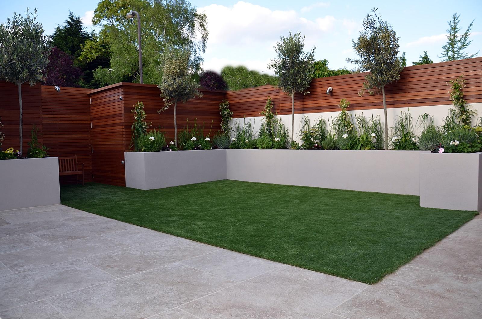 hardwood cedar privacy screen trellis garden design london