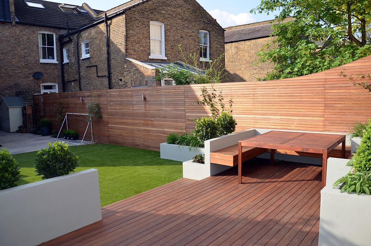 hardwood privacy screen trellis fence cedar london