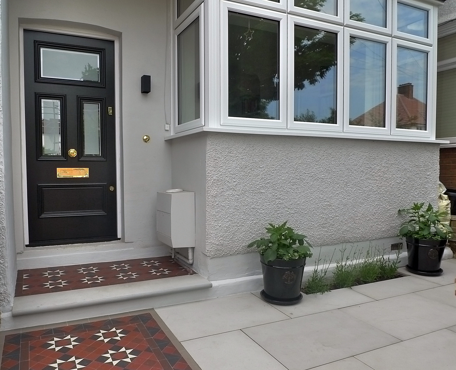 london front garden company mosaic man victorian tile path streatham brixton herne hill camberwell tulse hill east dulwich london