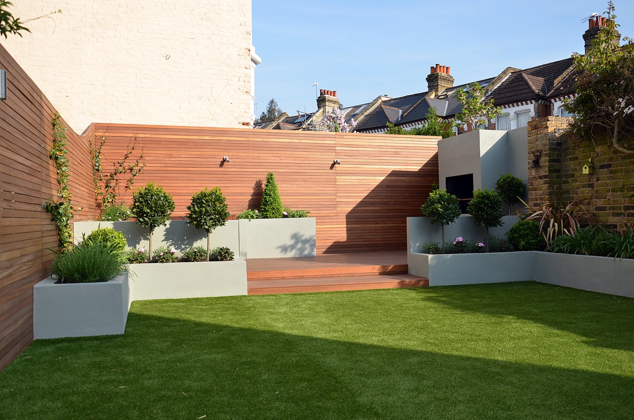 low maintenance modern garden design london
