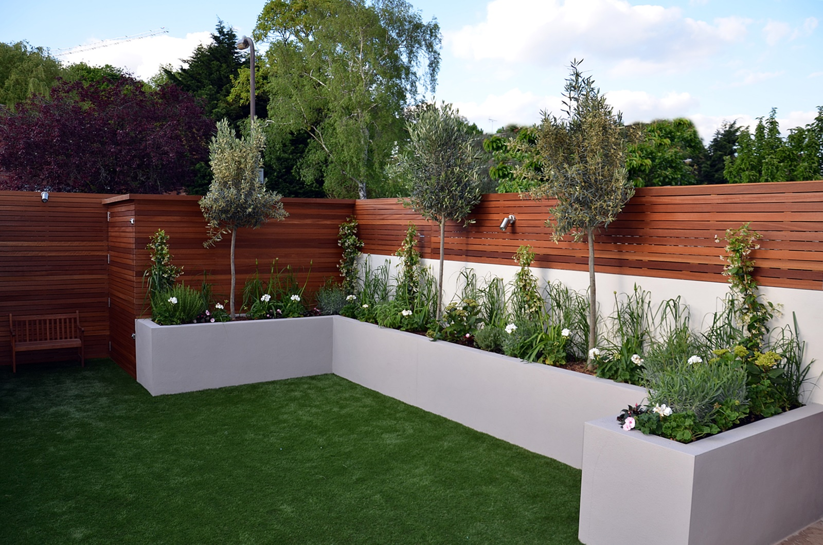 modern garden design fulham chelsea clapham battersea On low maintenance garden beds