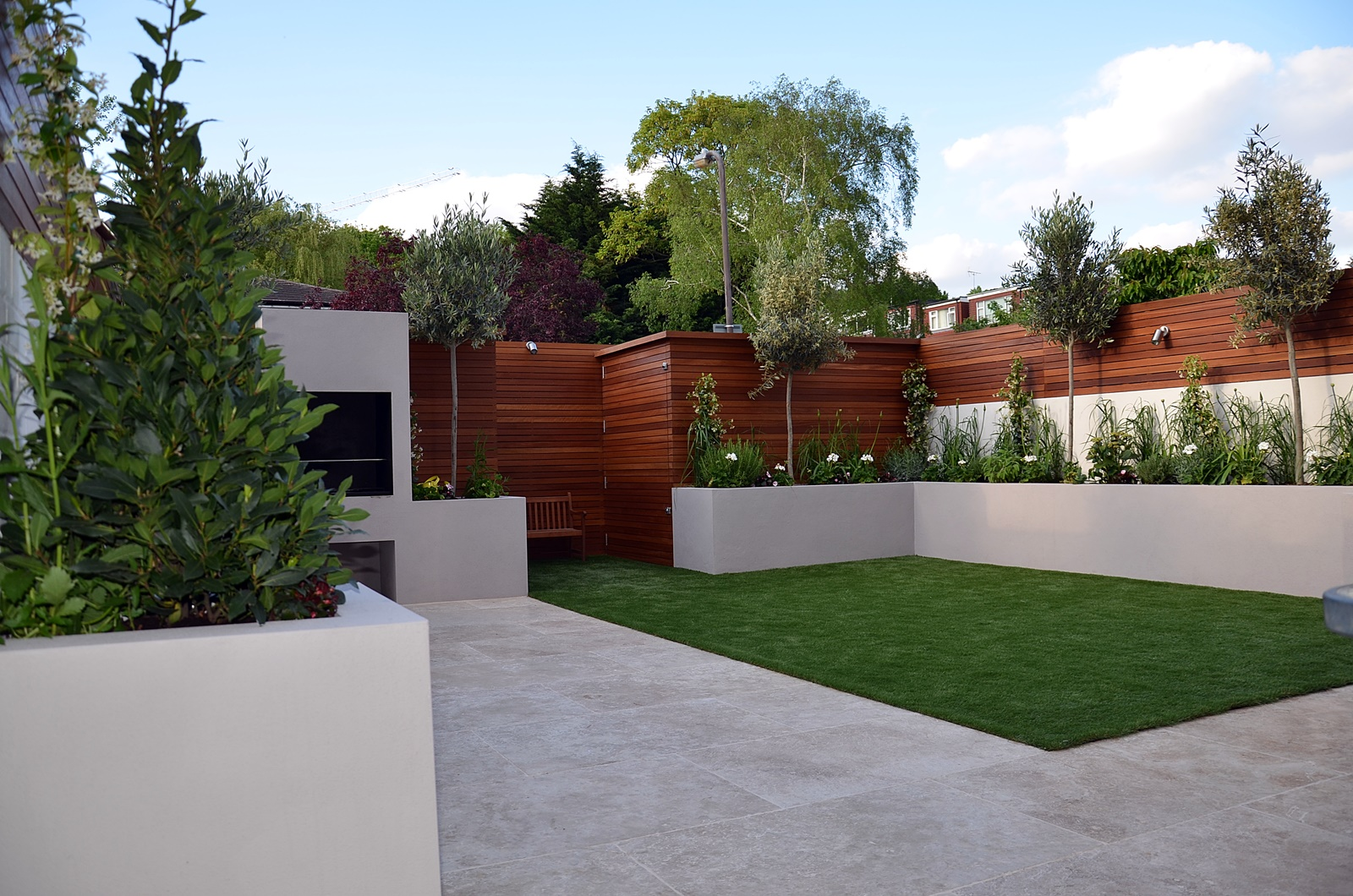 raised beds low maintenance small garden design london
