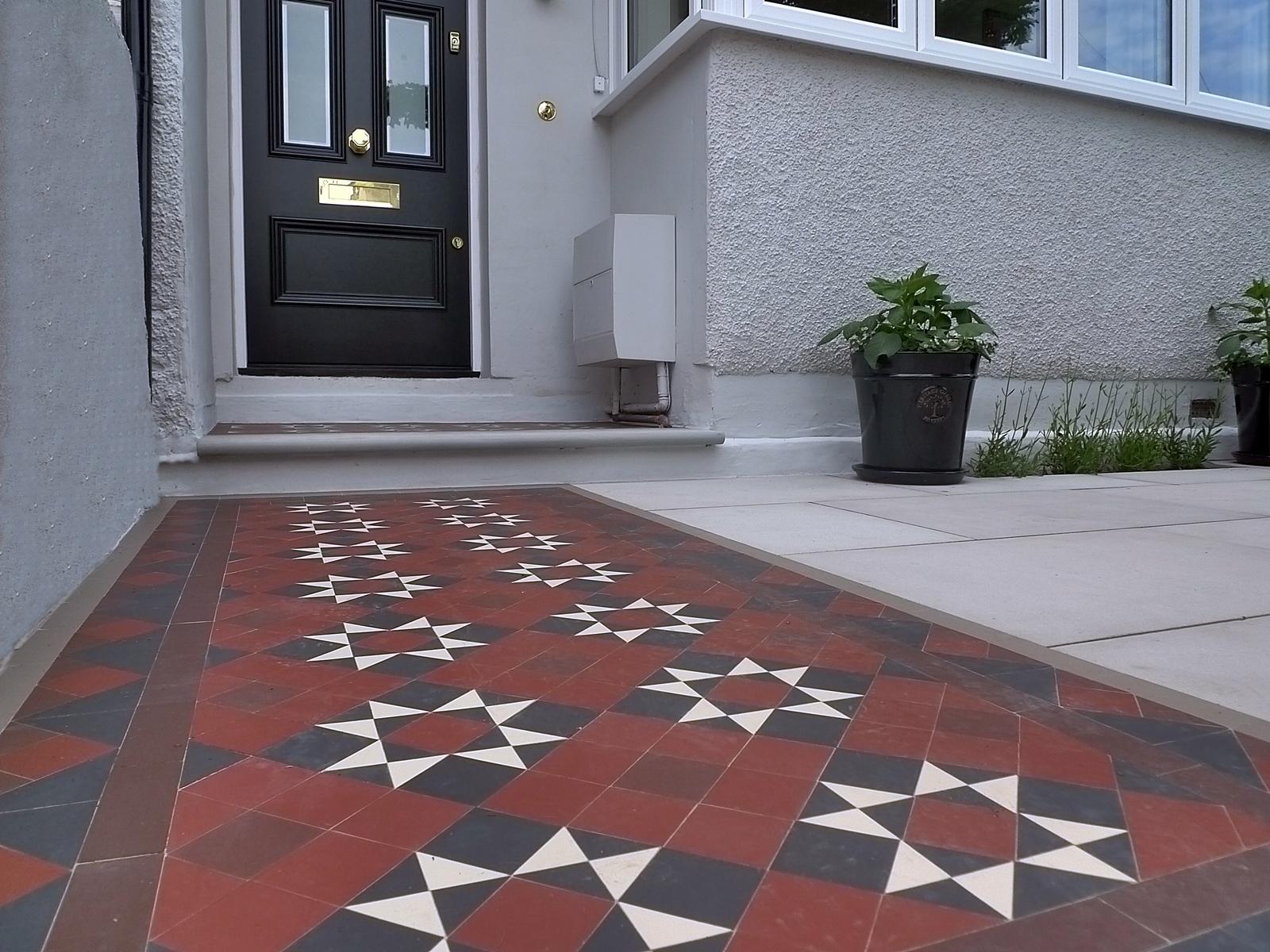 victorian mosaic tile path mosaic man front garden company balham clapham battersea putney kensington mayfair westminster london