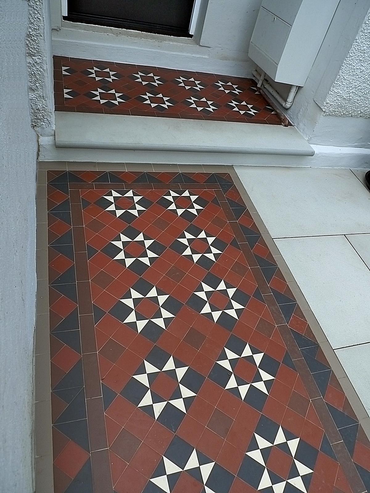 victroian mosaic tile path london