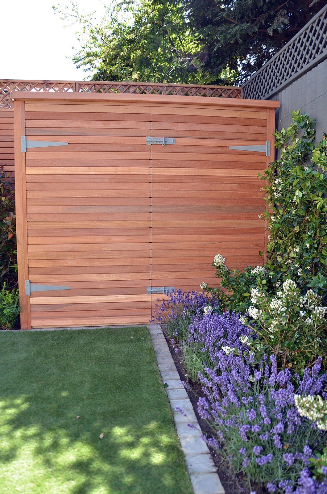 bespoke hardwood bike garden storage shed london
