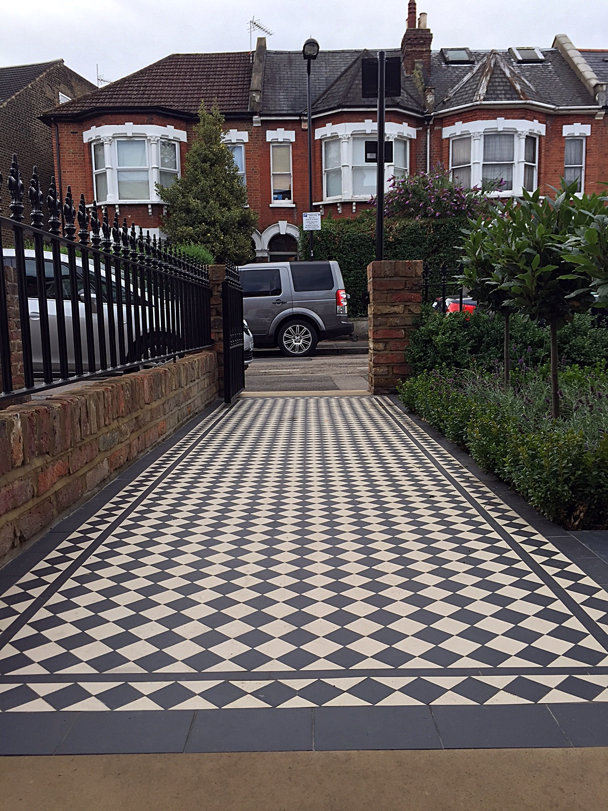 Classic black and white Victorian Mosaic London