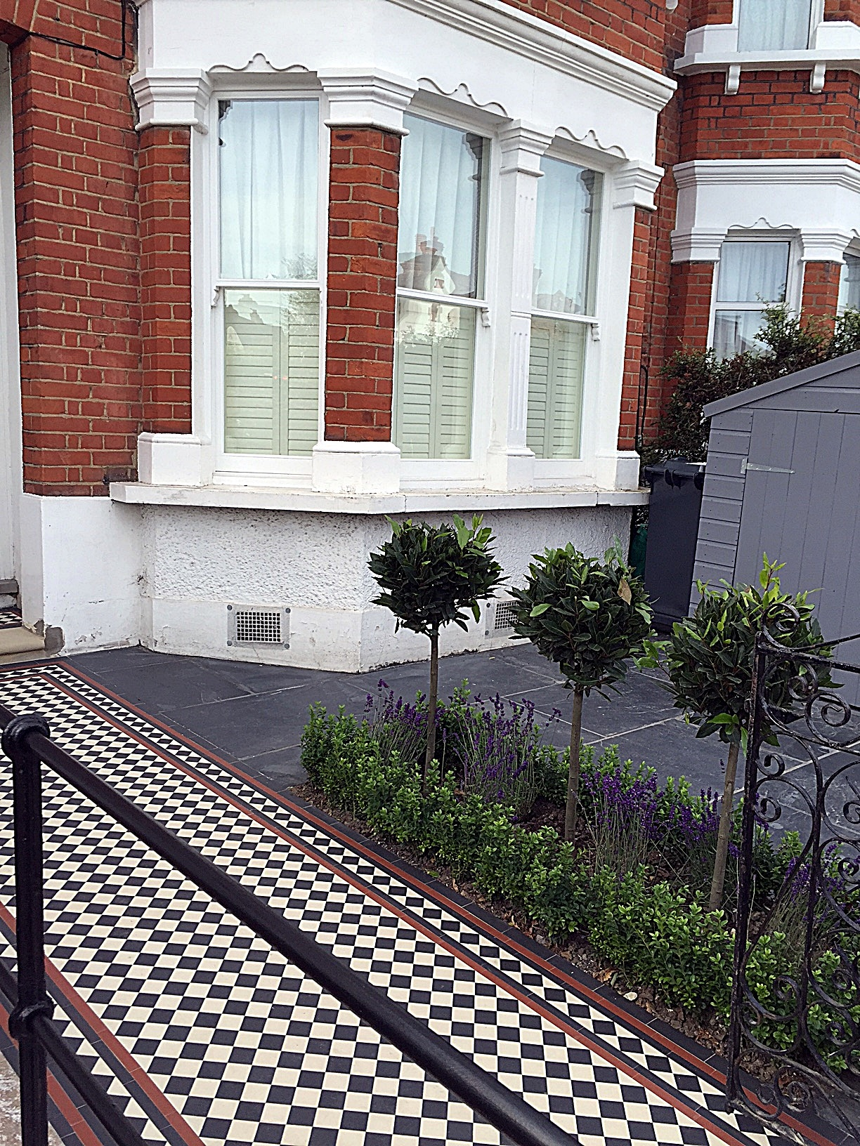 Front Garden Victorian multi colour mosaic London