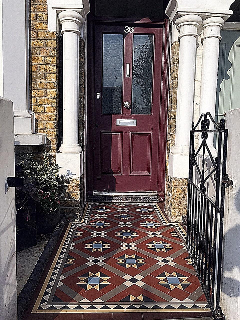 Edwardian Mosaic Front Garden London Balham Clapham Wandswarth Battersea