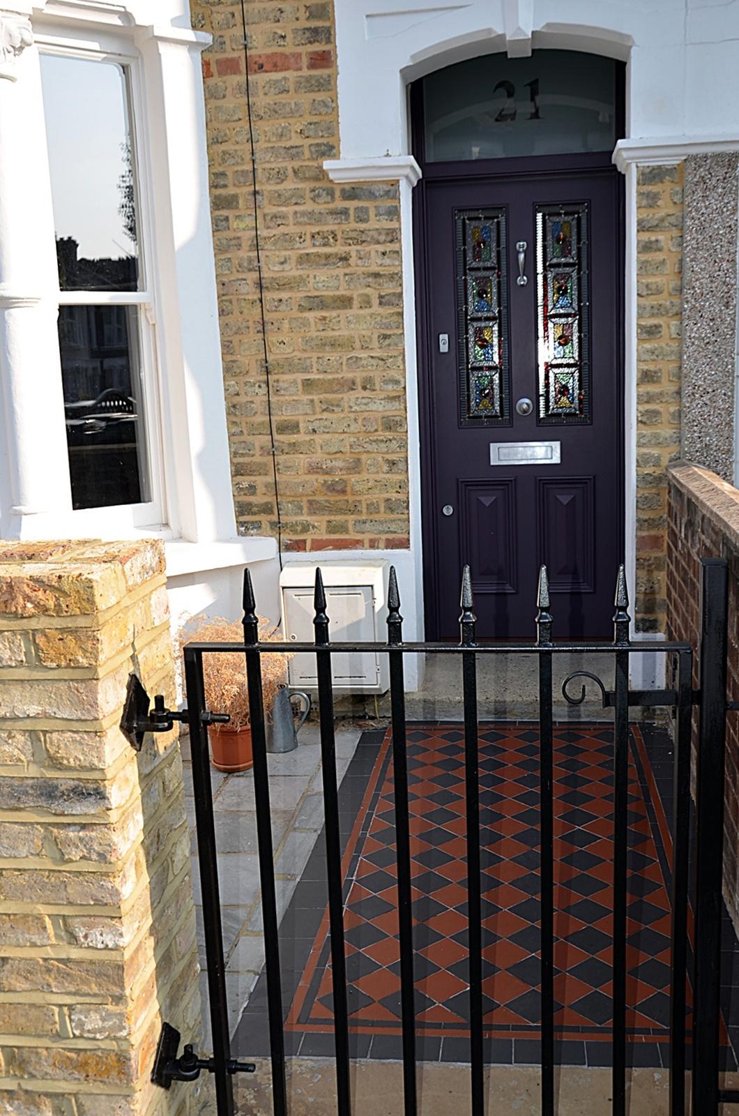 multi-colour-victorian-mosaic-front-garden-path-london-streatham-balham-clapham-earsfield