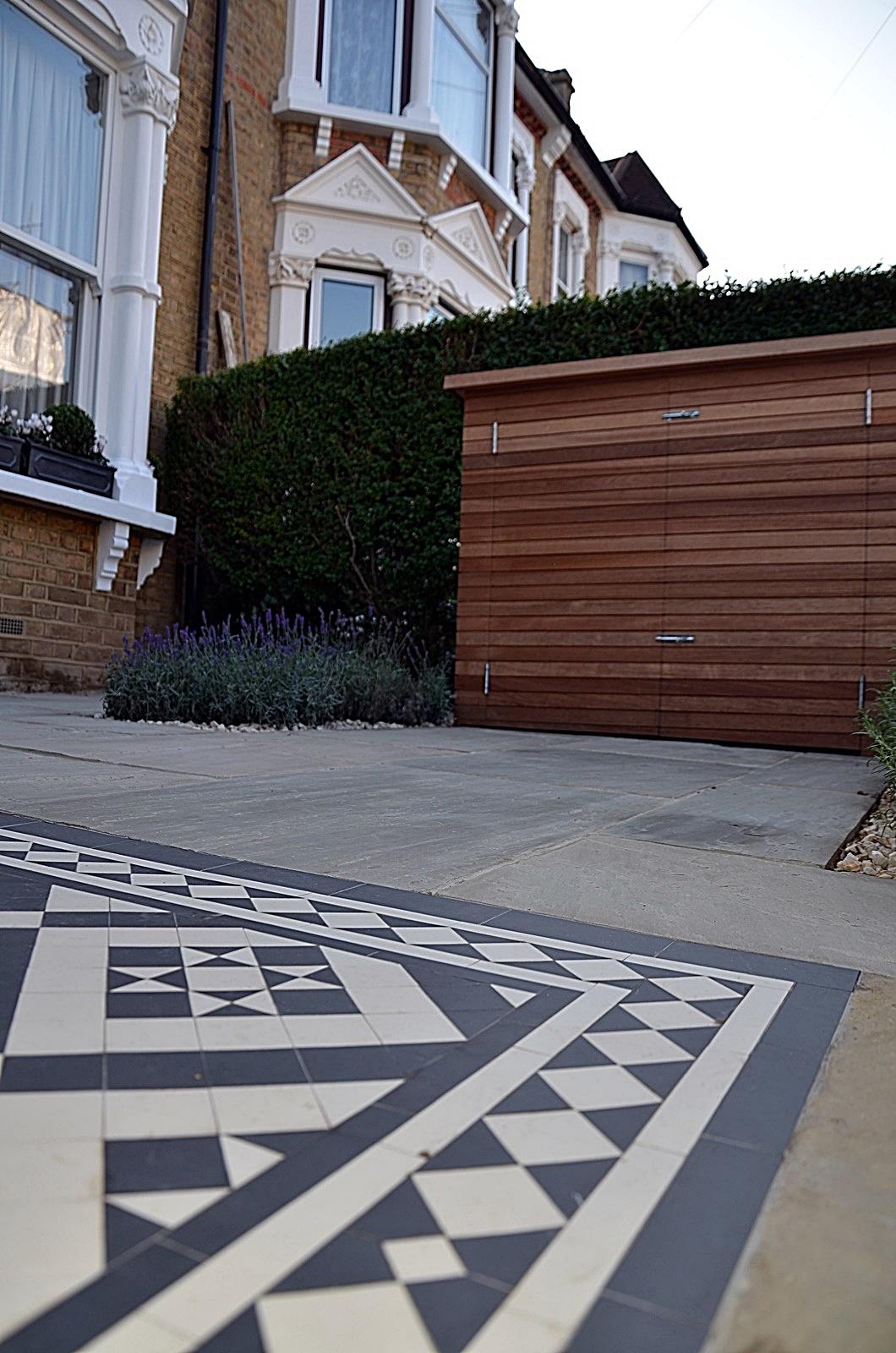 victorian-mosaic-path-paving-bespoke-storage-planting-london-balham-wandsworth-chelsea-fulham
