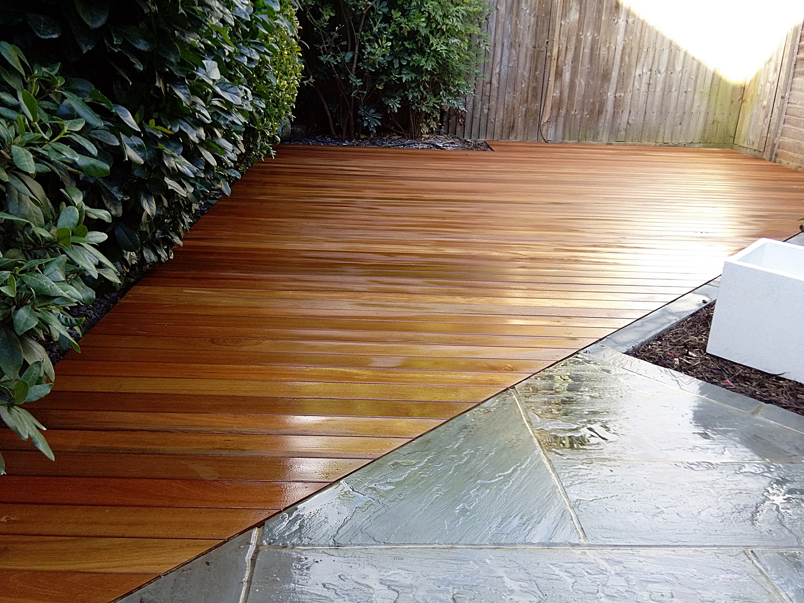 Slate london garden blog for Garden decking companies