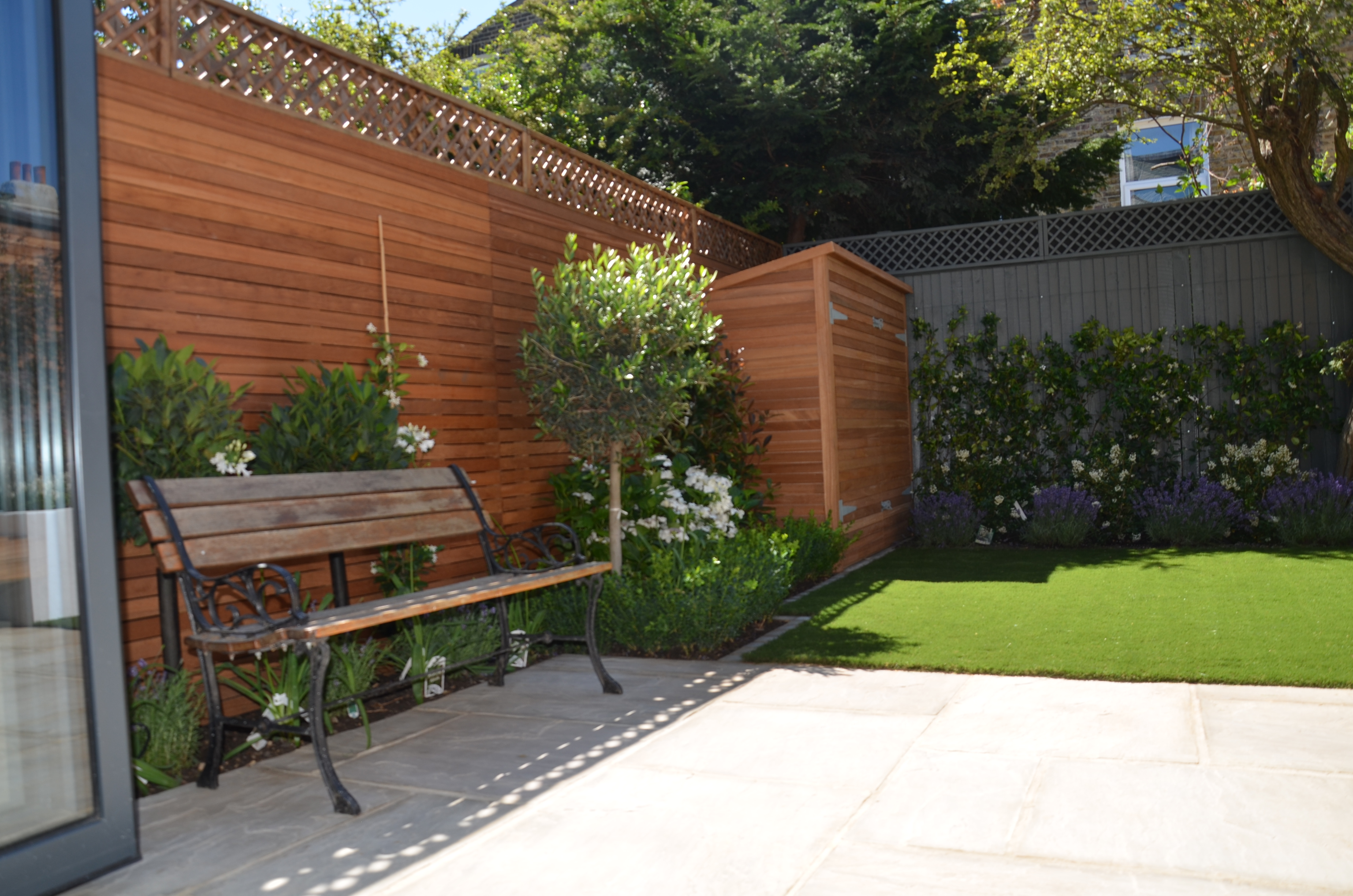 modern low maintenace garden designer london small designer cheam ...