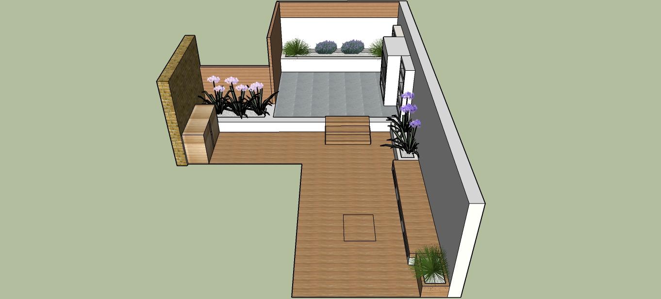 3d Garden Design And London Garden Designer Sketch Plan Chelsea