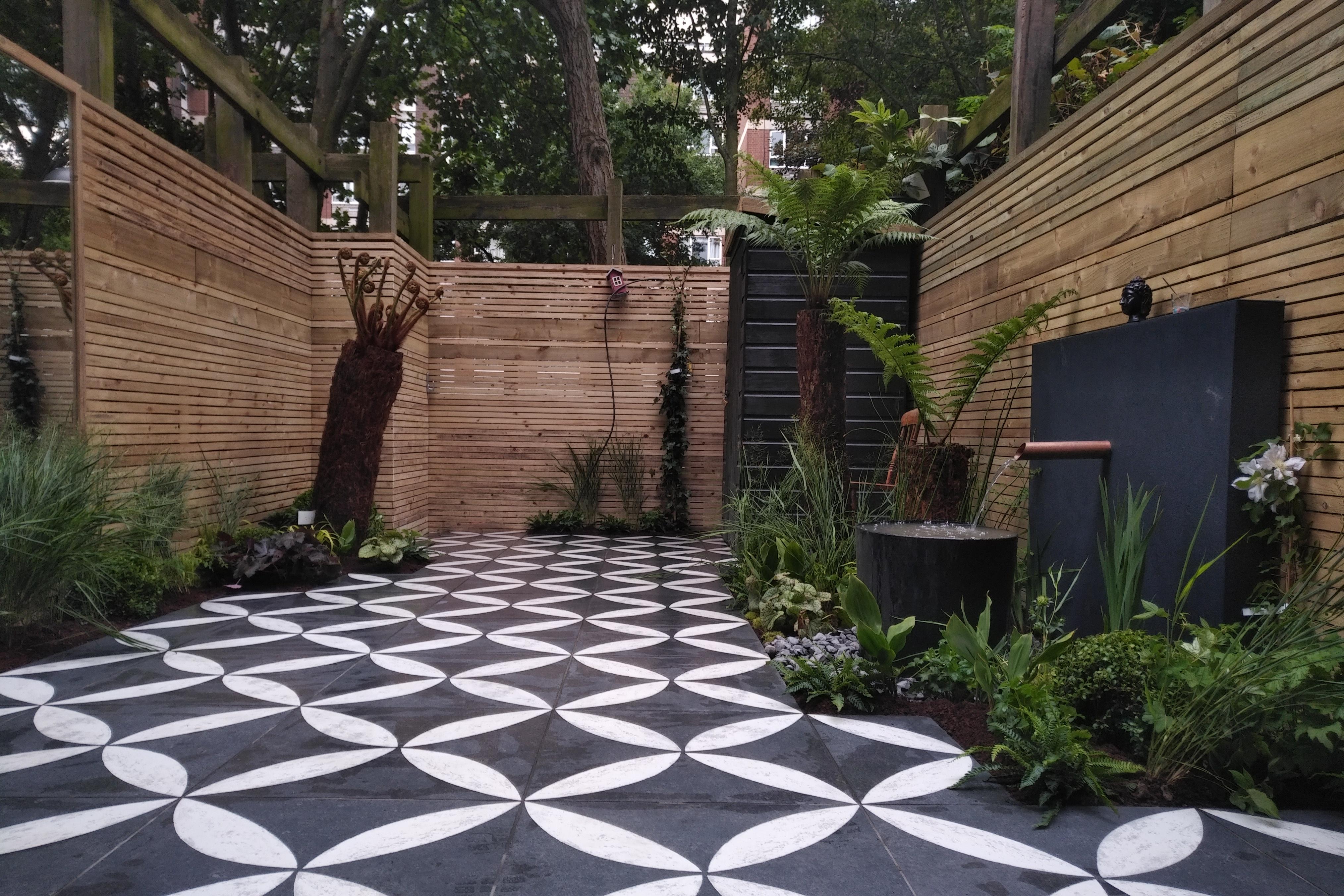 Spaces Bruges Outdoor Grey Tile: Small Garden Design Cat Howard Garden Builders Anewgarden