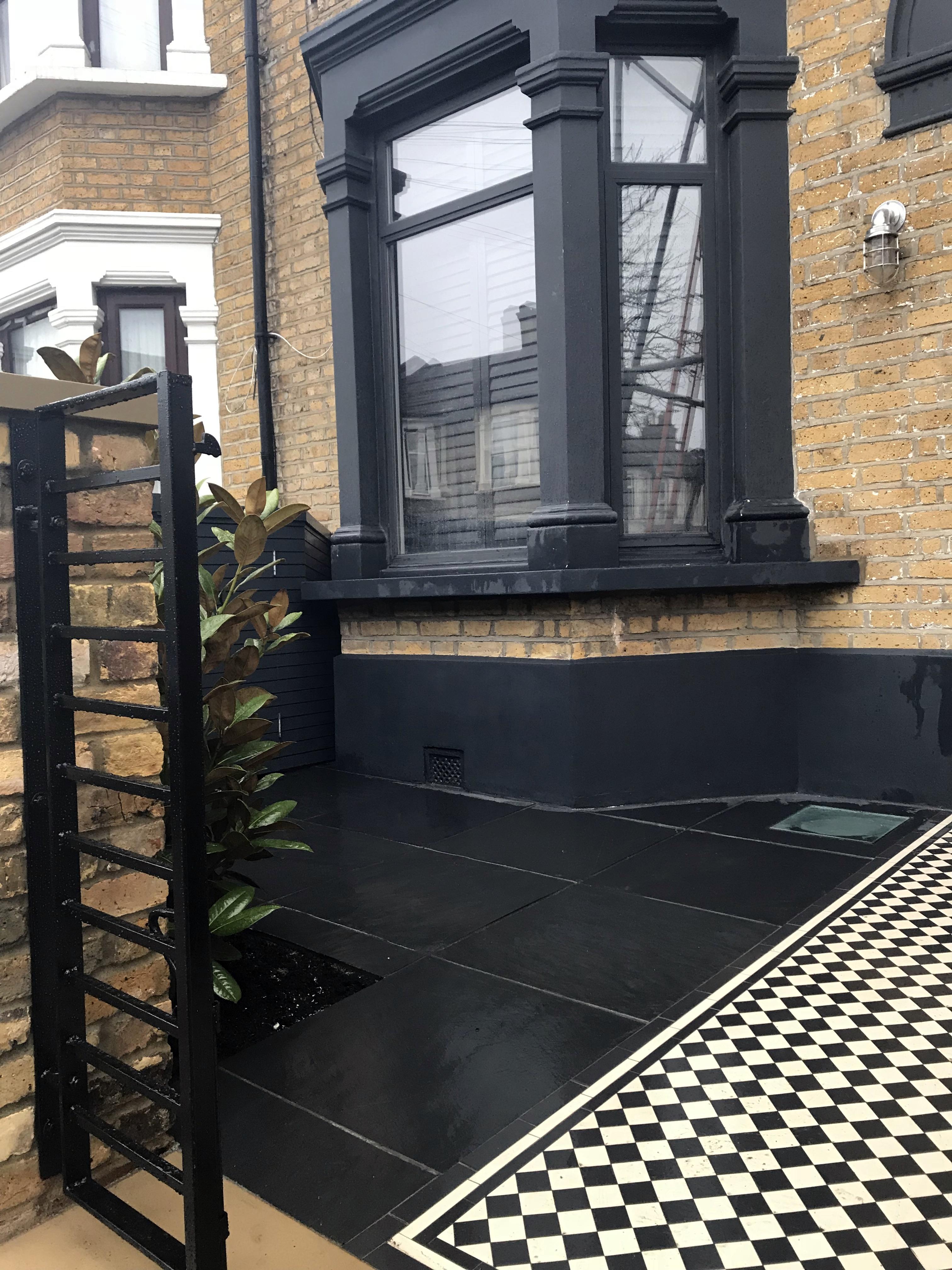Astro Turf Garden >> Victorian Front Garden Restoration with Modern Elements ...
