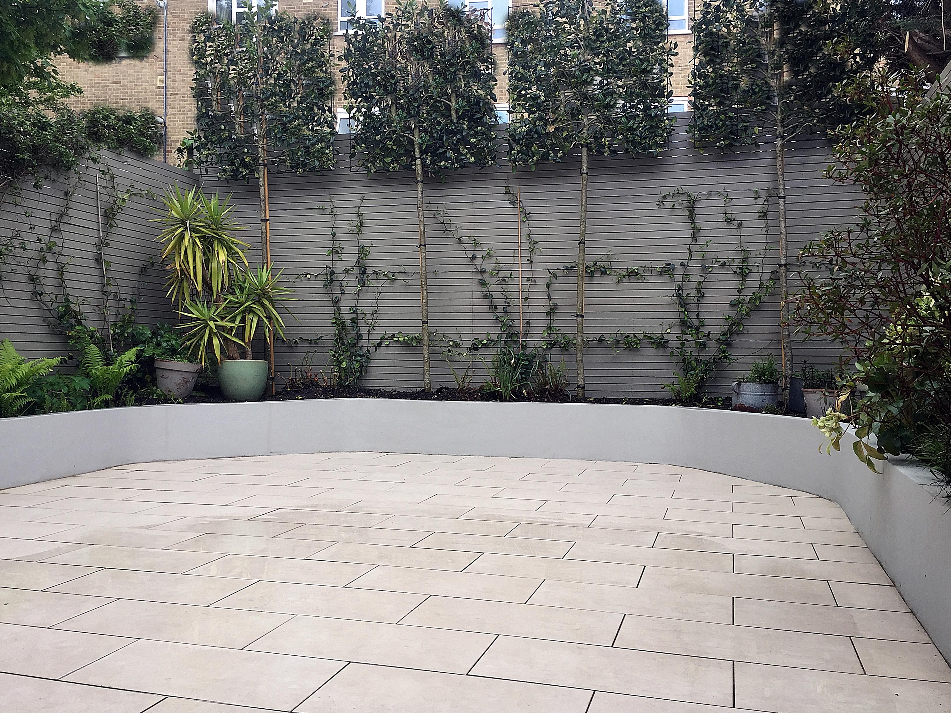White Rendered Garden Wall
