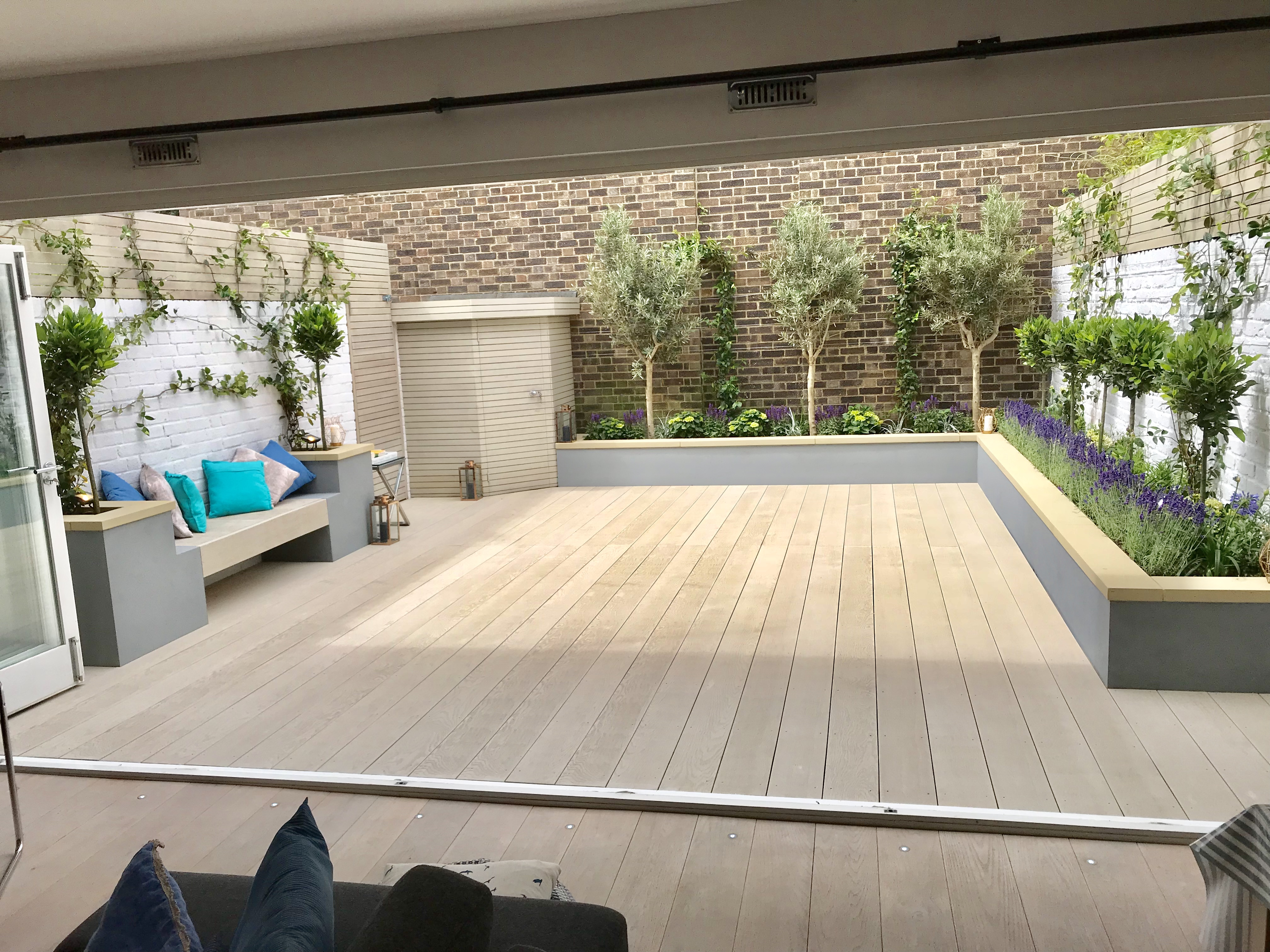 Contemporary Modern Garden Design London Decking Screen