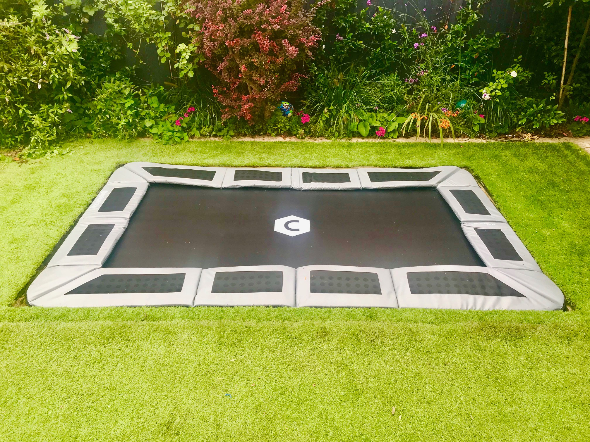 Sunken Trampoline With Artificial Grass And Optional Lid