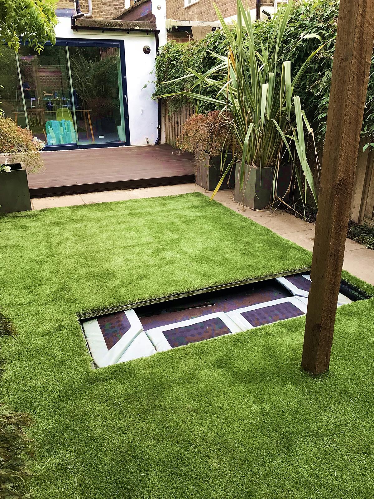 Garden Walk London: Sunken Garden Trampoline With Walk On Lid Cover